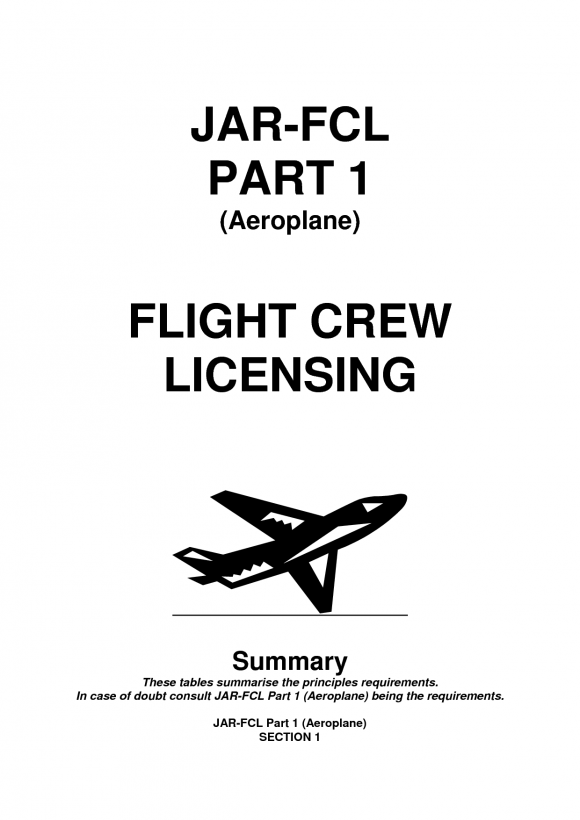 JAR (joint aviation requirements)