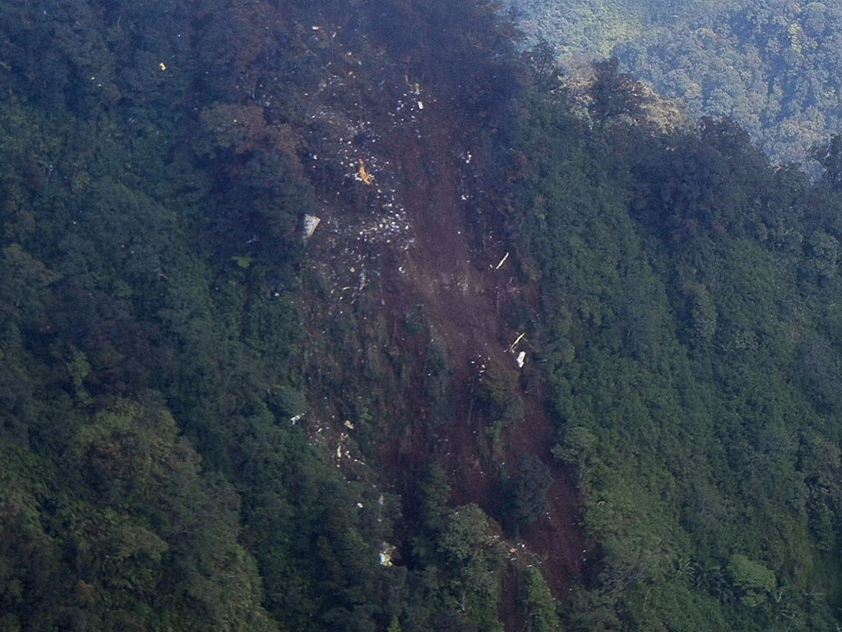Salak hillside. SSJ100 crash site.