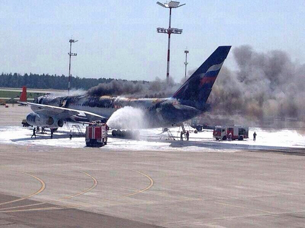 Fire on board Il-96